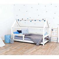 Bílá dětská postel s bočnicemi ze smrkového dřeva Benlemi Tery, 80 x 160 cm