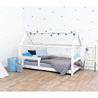 Bílá dětská postel s bočnicemi ze smrkového dřeva Benlemi Tery, 80 x 180 cm