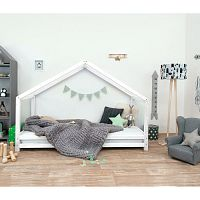 Bílá dětská postel z lakovaného smrkového dřeva Benlemi Sidy, 120 x 170 cm