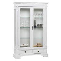 Bílá dřevěná vitrína Folke Mozart Figaro, výška 188 cm