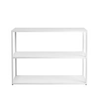 Bílá knihovna Custom Form Hyllermetal, výška75cm