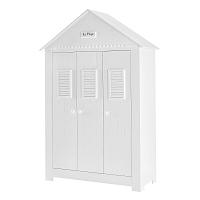 Bílá třídveřová šatní skříň Pinio Marseille
