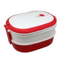 Bíločervený svačinový box JOCCA Lunchbox