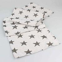 Bílý běhoun na stůl s hvězdami Dakls