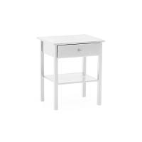 Bílý dřevěný noční stolek VIDA Living Willow