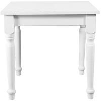 Bílý jídelní stůl Biscottini Tabby, 80 x 80 cm