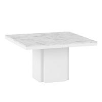 Bílý jídelní stůl s deskou z mramoru TemaHome Dusk