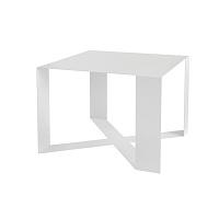 Bílý konferenční stolek Take Me HOME Cross, 55x55cm