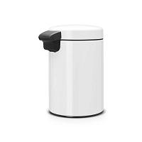 Bílý nástěnný odpadkový koš Brabantia Newicon, 3l