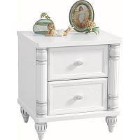 Bílý noční stolek Romantic Nightstand