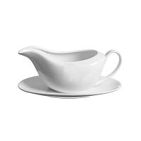Bílý omáčkovník s podšálkem z porcelánu Price & Kensington