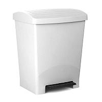 Bílý pedálový odpadkový koš Ta-Tay Optimist, 25 l