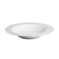 Bílý polévkový talíř Price&Kensington Simplicity,Ø21,5cm