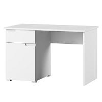 Bílý pracovní stůl s jednou zásuvkou Szynaka Meble Original