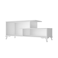 Bílý TV stolek Bergama, 120 x 48,5 cm