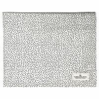 Bílý ubrus s černými tečkami Green Gate Dot, 145 x 250 cm
