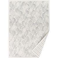 Bílý vzorovaný oboustranný koberec Narma Niidu, 70x140cm