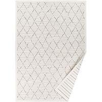 Bílý vzorovaný oboustranný koberec Narma Vao, 140x200cm