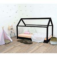 Černá dětská postel bez bočnic ze smrkového dřeva Benlemi Tery, 90 x 200 cm