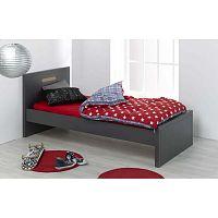Černá dětská postel JUNIOR Provence Milo, 90x200cm