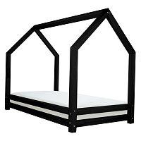Černá dětská postel z lakovaného smrkového dřeva Benlemi Funny, 90 x 160 cm