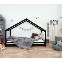 Černá dětská postel z lakovaného smrkového dřeva Benlemi Sidy, 120 x 160 cm