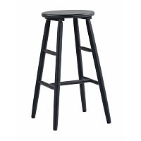 Černá dřevěná barová židle Folke Python, ⌀ 36 cm