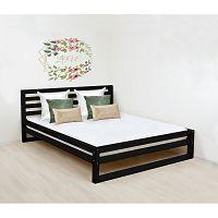 Černá dřevěná dvoulůžková postel Benlemi DeLuxe, 200x200cm