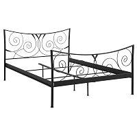 Černá dvoulůžková kovová postel Støraa Isabelle, 180x200cm