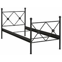 Černá  jednolůžková postel Støraa Johnson, 90x200cm