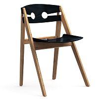Černá jídelní židle s konstrukcí z bambusu Moso We Do Wood