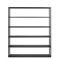 Černá knihovna Custom Form Hyllermetal, výška180cm