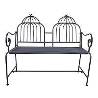Černá kovová zahradní lavice Ewax Cage