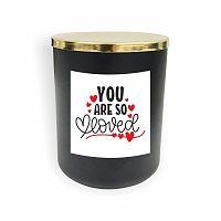 Černá svíčka North Carolina Scandinavian Home Decors Motto Glass Candle V13