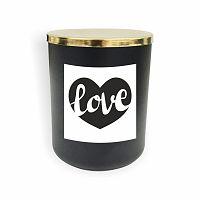 Černá svíčka North Carolina Scandinavian Home Decors Motto Glass Candle V8