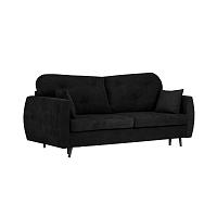 Černá třímístná rozkládací pohovka s úložným prostorem Kooko Home Bluzz
