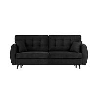 Černá trojmístná rozkládací pohovka s úložným prostorem Cosmopolitan design Rotterdam, 231x98x95cm
