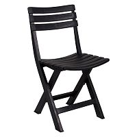 Černá zahradní skládací židle Crido Consulting Marella