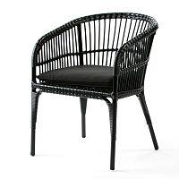 Černá židle Thai Natura Woven