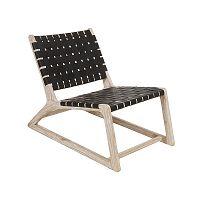 Černá židle z dřeva mindi a kravské kůže Santiago Pons Tony