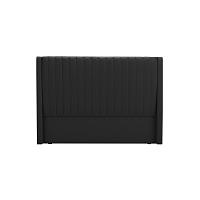 Černé čelo postele Cosmopolitan design Dallas, 140x120cm