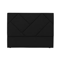 Černé čelo postele HARPER MAISON Annika, 140 x 120 cm