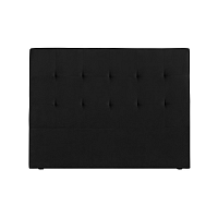 Černé čelo postele Kooko Home Basso, 120 x 140 cm