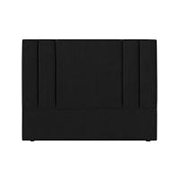Černé čelo postele Kooko Home Kasso, 120 x 140 cm