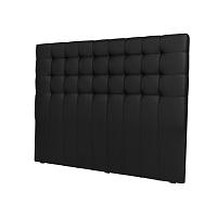 Černé čelo postele Windsor & Co Sofas Deimos, 140 x 120 cm