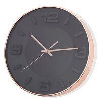 Černé nástěnné hodiny Brandani Rose Gold