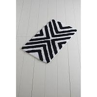 Černo-bílá koupelnová předložka Crasso Geometrico, 100 x 60 cm