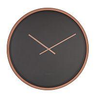 Černo-měděné nástěnné hodiny Zuiver Time Bandit