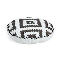 Černobílý vzorovaný puf La Forma All,Ø60cm