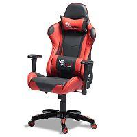 Černočervená kancelářská židle Knuds Gaming
